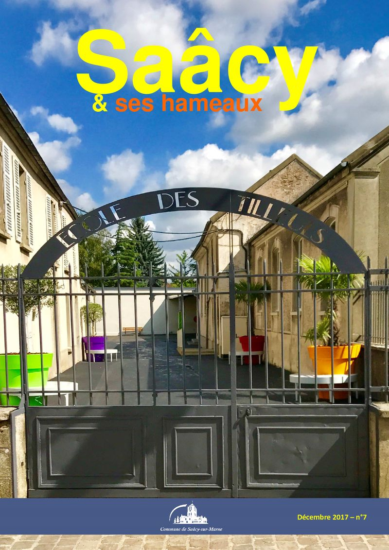 1er de couverture bulletin municipal n°7 Saacy